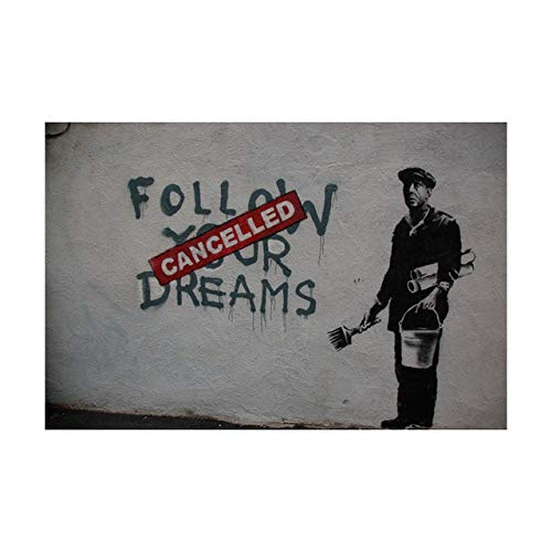 Graffiti Art Abstract Canvas Painting Poster and Printmaking Wall Canvas Artist Home Decoration 50x70cm