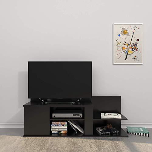 Homemania Mobile Porta TV Marshall, Legno, Nero, 120x30,5x42,5 cm