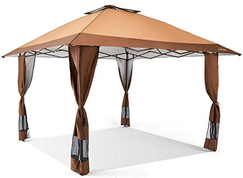 Suntime Pop Up Canopy Outdoor Portable Party Wedding Tent with One Sidewall (NOT...