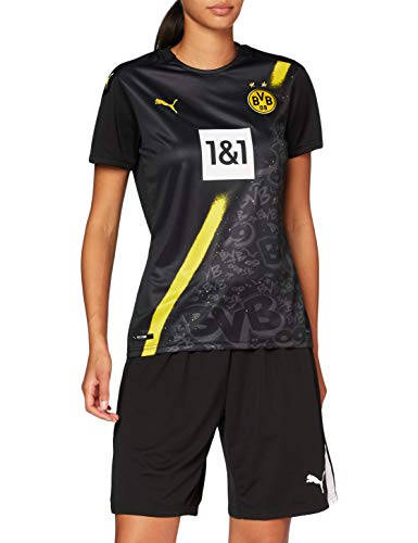 PUMA Damen BVB Away Shirt Replica WNS SS w.Sponsor New T Black, M