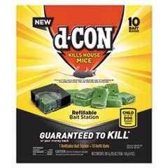 D-Con Refillable Corner Fit Mouse Poison Bait Station Refills, 10 Count
