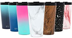 Vacuum Insulated: Simple Modern Classic tumblers are double walled and vacuum insulated, which keeps your favorite beverage hot or cold for hours 2 Lids Included: Straw Lid & Flip Lid - An internally threaded insulated straw lid and insulated flip li...