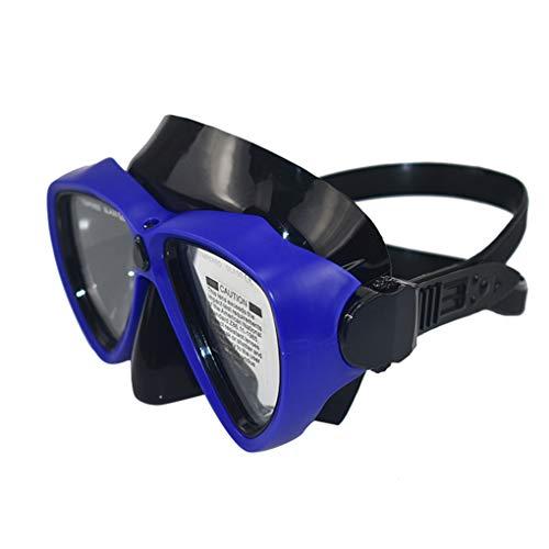 PRENKIN Unterwasser-Schwimmbrille Anti-Fog-freie Objektiv-Adjustable Tauchen Schnorchel Scuba Brille, Blau