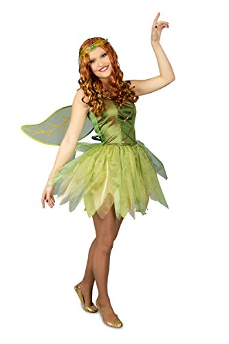 K31250416-40-42 grün Damen Feen Kleid Elfenkostüm Gr.40-42