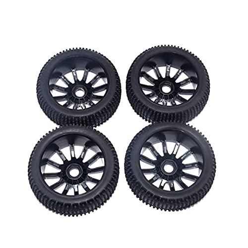4pcs 1/10 1/8 Rueda de Llantas y neumáticos de neumáticos para el Equipo de HPI 0 0 LRP 1/10 RC Off Road Buggy Car (Color : Tryres for 10 Car)