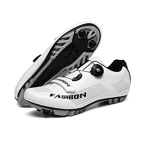 Zapatillas Bicicleta Montaña, Zapatillas Ciclismo Pro MTB, Zapatillas De Ciclismo Transpirables para...