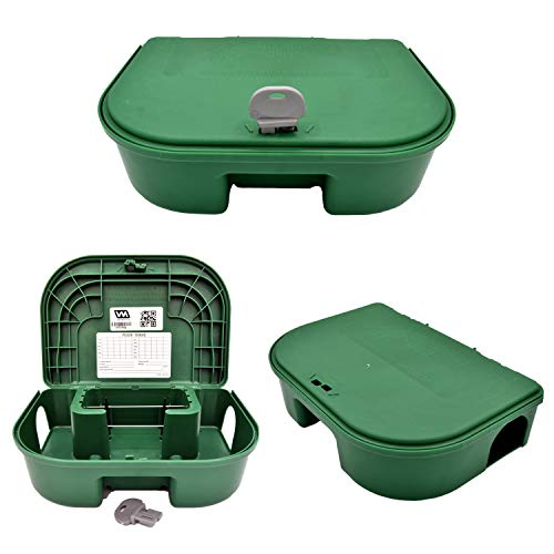 Exterminators Choice Two Bait Boxes and One Key Included Heavy Duty for Rats Mice and Other Pests  for Rodents | Bait not Included