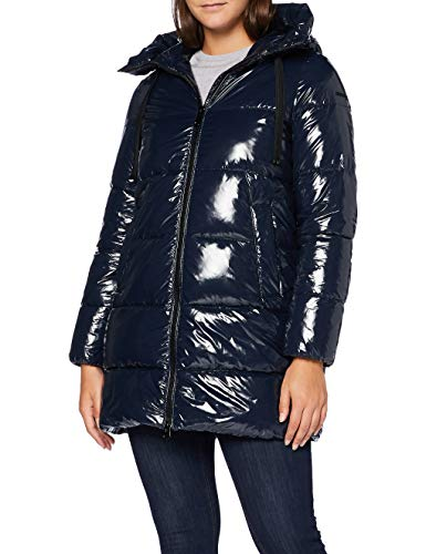 Geox Womens W EMALISE Parka, Blue Nights, 38