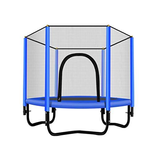 DX elastische trampoline met net voor het hek, mini-trampoline, opvouwbaar, voor binnen, elastische trampoline, met veerreliëf, voor kinderen, maar grappig genoeg