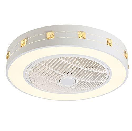 RUIXINBC Moderna LED Ventilador Techo con Lámpara,con Mando A Distancia Regulable Luz Ventilador Invisible Velocidad del Viento Ajustable,Decoración De Interiores Plafón Iluminación,Style 2