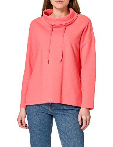 TOM TAILOR Damen 1024522 Print Hoodie Sweatshirt, Strong Peach Tone, XXL