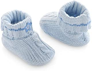 First Moments Cable Knit Baby Booties