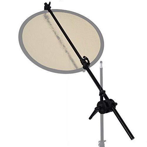 BA01D Holder Auge Telón de Fondo Panel Arm Doule Abrazadera Reflector con giratoria Grip