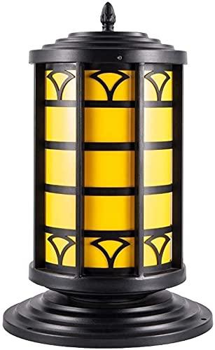 Al aire libre poste luces polo linterna iluminación accesorio vintage impermeable energía retro columna columna luz a prueba de lluvia europeo al aire libre columna columna faros a prueba de lluvia le