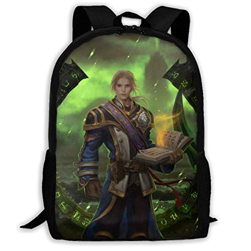 World Warcraft Illidan Stormrage Priest Gul'Dan College Bags Printed Daypack Toddler Backpack Backpack College for Women Men,Size 43X28X16Cm