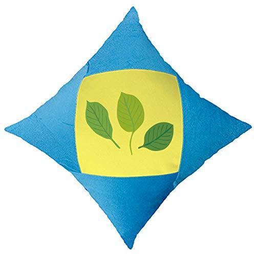 OFFbb-USA - Funda de almohada decorativa de tres hojas, diseño de dibujos animados, color azul