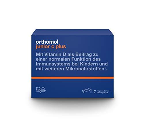 Orthomol junior C plus 7-delige kinderen direct granulaat, framboos-limoen - vitamines & sporenelementen voor het immuunsysteem