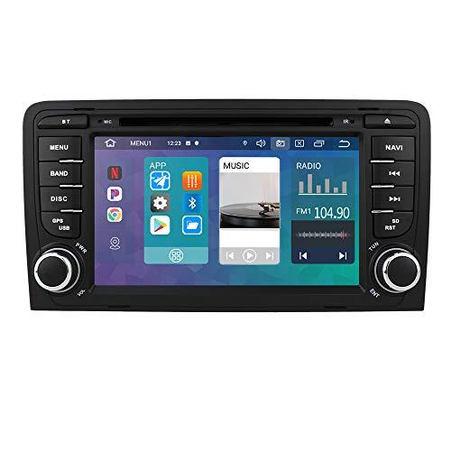 hizpo 7 pollici Touch Screen Autoradio GPS Navi Multimedia Player Compatibile con A3 S3 2003-2012 Supporto Bluetooth DAB + Subwoofer USB