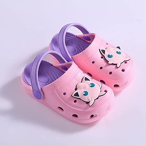 chanclas mujer baratas,Pikachu Children's Baotou Slippers, Dibujos animados de verano Impresión de dibujos animados Niños y niñas Sin resbalones Suave Absoltable Desodorante Beach Zapatos Sandalias-2
