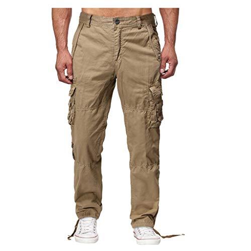 VANMO Herren Freizeithose, 2020 Herrenmode Lose Hübsche PocketJeans Pants Tooling Camouflage Pants Bequem Langlebig Spitze Einfarbig Tarnung Hosen