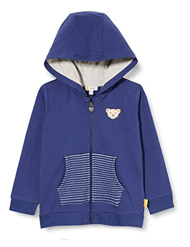 Steiff Jungen Sweatjacke Sweatshirt, DEEP Cobalt, 116