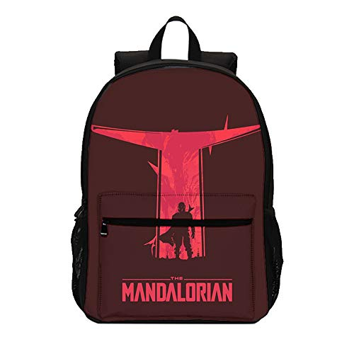 The Mandalorian Large Capacity Schoolbag Waterproof Airy Daypack Lightening Backpack for Boys and Girls Kids (Color : A04, Size : 47 X 31 X 14cm)
