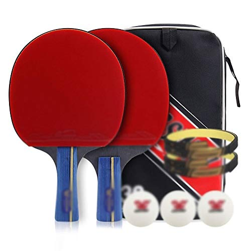 Check Out This Mimoo Ping Pong Paddle Set, Performance-Level Table Tennis Paddle Set, Balls and Port...