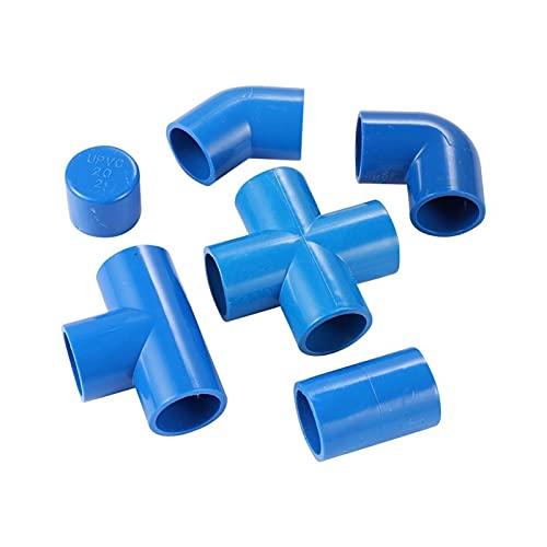 Kit de conectores conjuntos de manguera Suministro de agua Conector de PVC de 25 mm recto 3-vías Enchufe de codo de 4 vías PVC adaptador de tubería de agua granja Accesorios de irrigación