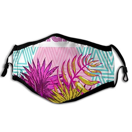 N/A Maske Palm, Banane und andere tropische Blätter, weich und bequem, winddicht und staubdicht, geeignet für jeden Tag