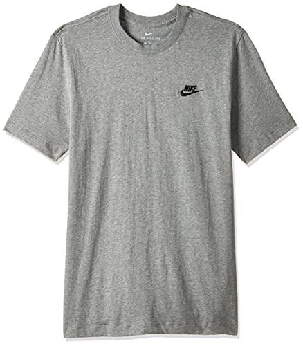 Nike Herren M NSW Club Tee T-Shirt, dk Grey Heather/(Black), L