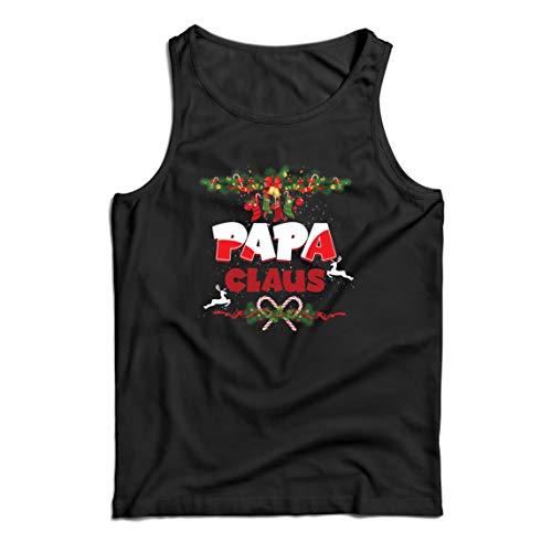 lepni.me Weste Papa Claus Lustiger Weihnachtsmann Weihnachten Passendes Kostüm (X-Large Schwarz Mehrfarben)