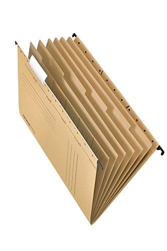 Original Falken Projektmappe und Personalmappe UniReg. Made in Germany. Aus Recycling-Karton für DIN A4 seitlich offen braun Blauer Engel Personalakte Personalhefter für die lose Blatt-Ablage