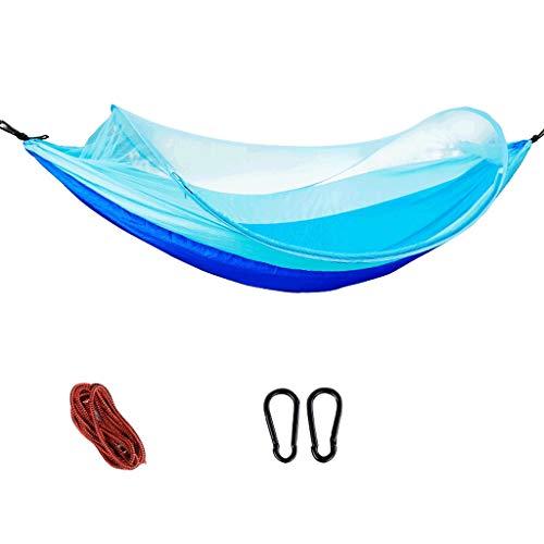 Hängematte QIQIDEDIAN Moskito-Konto außerhalb ultraleichter Indoor-Campingausstattung für den Haushalt (Color : Blue, Size : A)