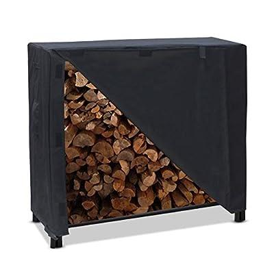 "Jaxbo Firewood Rack Cover,Waterproof 4 Feet Firewood Storage Cover, Fit 4 Seasons for Log Rack Cover, 48"" x 24"" x 42""(Black)"