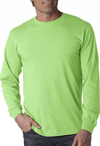 Fruit of the Loom 5 oz.Heavy Cotton HD Long-Sleeve T-Shirt (4930) -NEON Green -L
