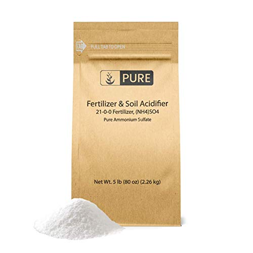 Ammonium Sulfate (5 lb.) by Pure Ingredients, Eco-Friendly Packaging, Fertilizer & Soil Acidifier, Highest Quality, NO Iron OR Aluminum (Also in 8 oz, 1 lb, 2 lb, 25 lb)