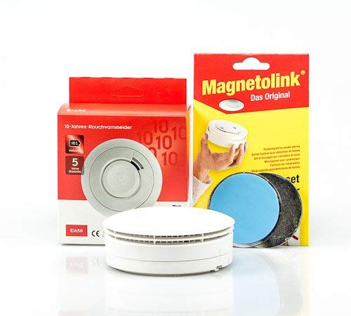 Ei Electronics Ei650 10 Jahres Rauchmelder Lithiumbatterie + Magnetolink 5-er Set, Ei 650