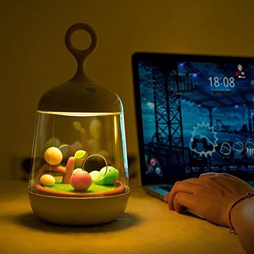 SiJOO Musik Lichter Pflanze Spieluhr Vogelkäfig Lichter USB Lade Touch LED Bunte Nachtlichter