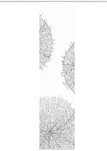 VISION S 84558 | Schiebegardine CRESTON II | halb-transparenter Stoff in Bambus-Optik | 260x60 cm | Farbe: stein