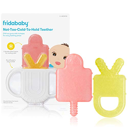 Not-Too-Cold-to-Hold BPA-Free Silicone Teether for Babies by Frida Baby