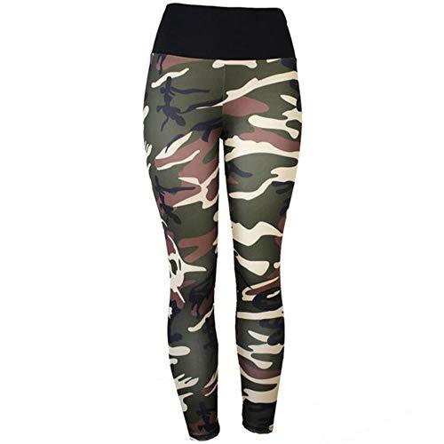 Koupany Dames Camouflage Negende Broek Legging Hardlooplegging Hoge Taille Yoga Broek Training Fitness Sport Broek