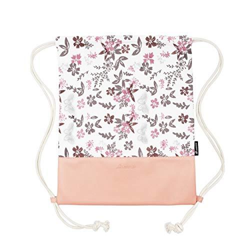 Leapop Turnbeutel Blumen Schmetterlinge, Rosa - 4