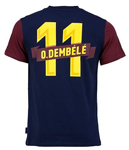 Fc Barcelone Camiseta de algodón Barça - Ousmane DEMBELE - Colección Oficial Taille Adulte XXL