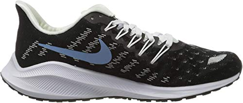 Nike Women's Running Shoes, Black (Black/Lt Blue-Half Blue-White-Chrome Yellow 007), 9.5 us