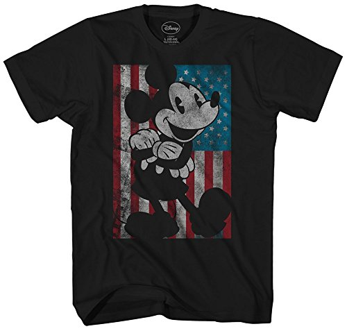 Mickey Mouse Disney American Flag Classic Vintage Retro Distressed America Patriotic Graphic Men's Adult T-Shirt Tee