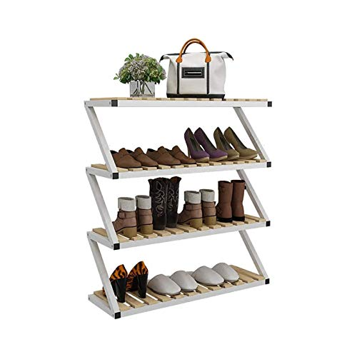TONGSH Zapatero Banco Tendequel de Zapatos apilable de 3 Niveles de 3 Niveles, Organizador de Almacenamiento de Zapatos expandible y Ajustable