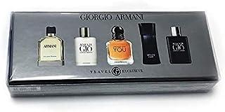 Armani M 5 Pc Mini Set(armani 7ml+gio 5ml+strngr With U 7ml+code 4ml+profumo 5ml)