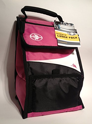 Arctic Zone Insulated Lunch Pack, Microban Technology, Pink by Arctic Zone