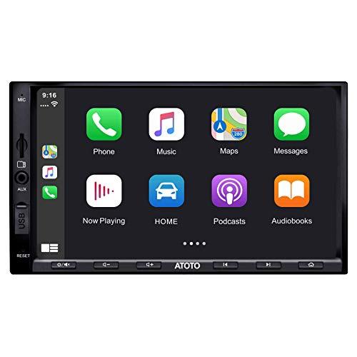 ATOTO in-Dash 2 Din Digital Media Car Stereo - SA102 YS102SL CarPlay & Android Auto Receiver, Phone Mirroring AM/FM Radio Tuner, USB Video & Audio
