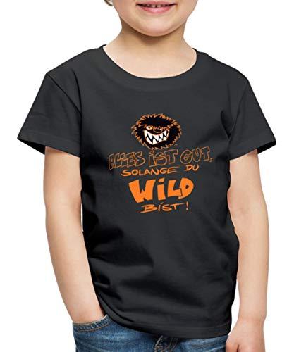 Die Wilden Kerle Spruch Motto mit Logo Kinder Premium T-Shirt, 122-128, Schwarz